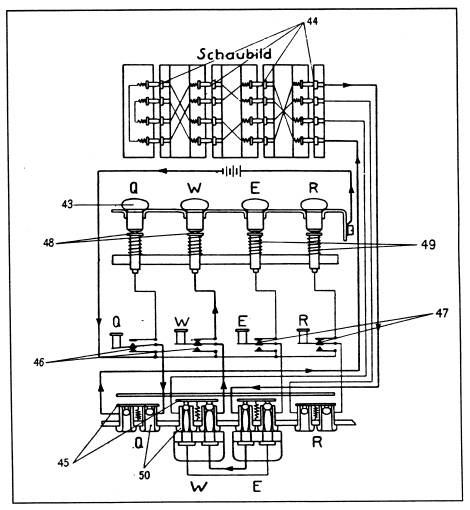 enigma cipher machine operation and wiring diagrams